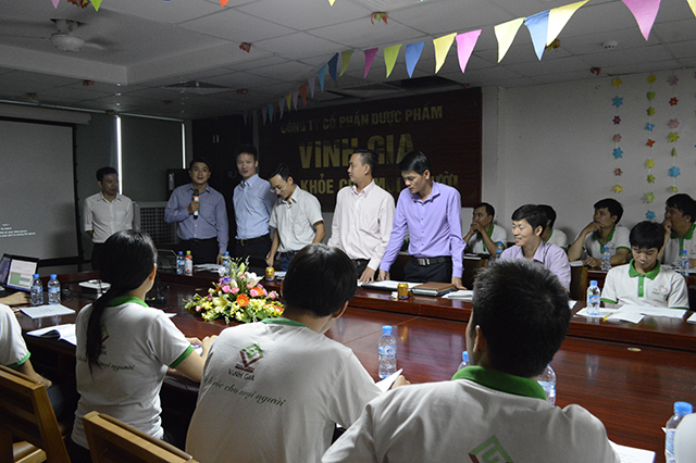 Ban lãnh đạo chi nhánh DP Vinh Gia miền Nam