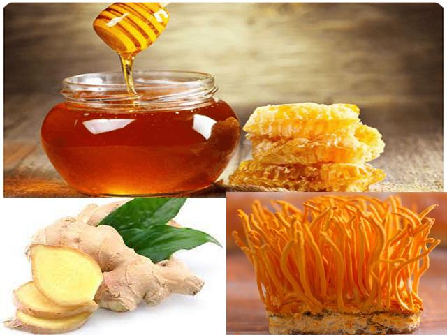 Trùng thảo mật ong pha với gừng tăng cường hệ miễn dịch